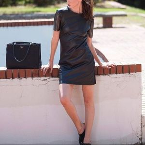 Nicole Miller leather mini Dress